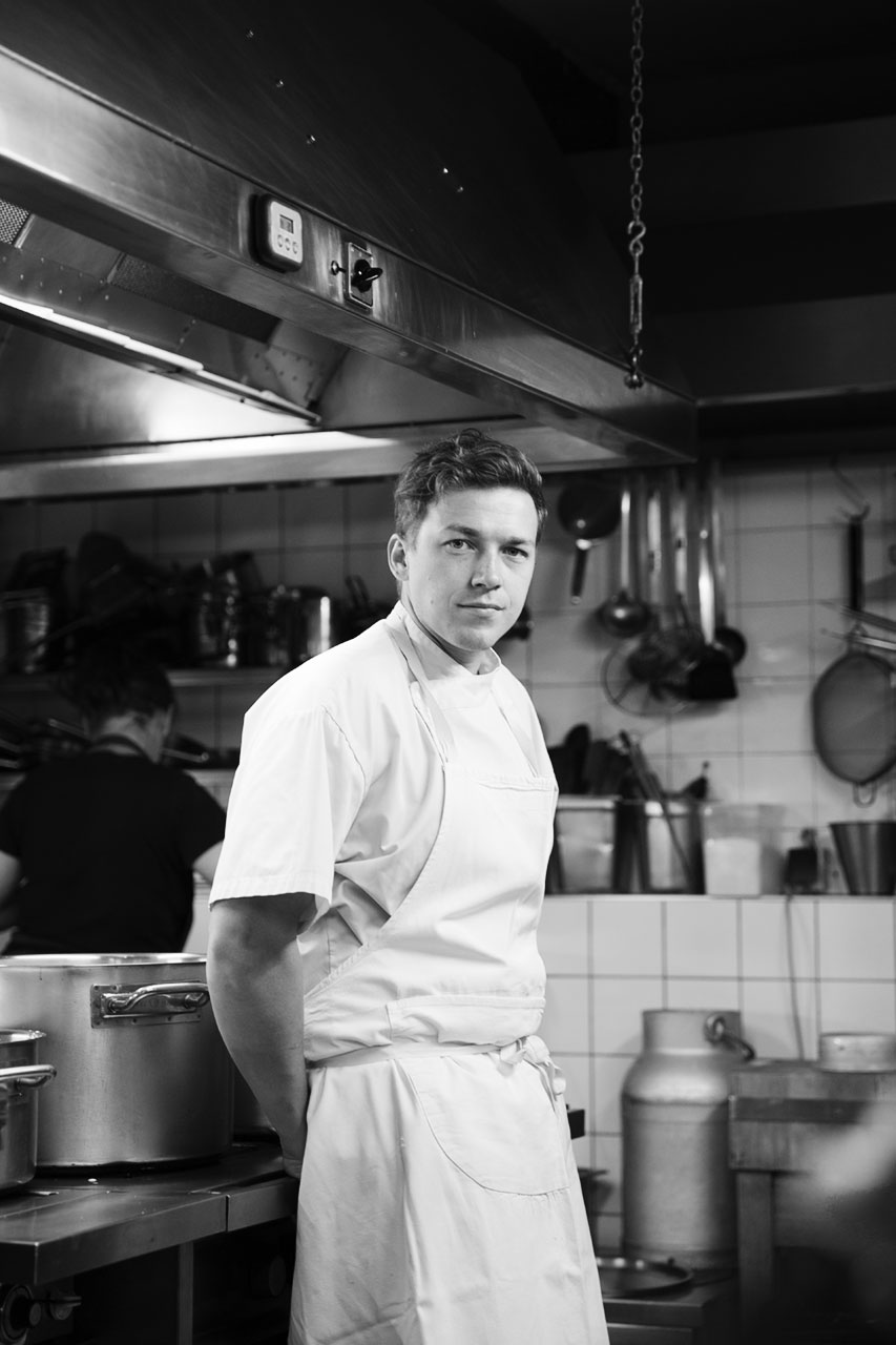 Philip in the kitchen, by Julian Mullan